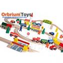 Deals List: 100-Piece Orbrium Toys Triple-Loop Wooden Train Set Fits Thomas Brio Chuggington