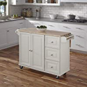 Deals List: Liberty White Kitchen Cart with Wood Top by Home Styles