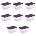 Deals List: Sterilite, 58 Qt./55 L Storage Box, Moda Purple, Case of 8