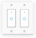 Deals List: Lesim 2 Gang-Touch Button Smart WiFi Light Switch (433085316)