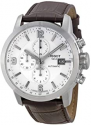 Deals List: Tissot Mens PRC 200 Chronograph Leather Silver Dial Watch