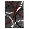 Deals List: World Rug Gallery Toscana Modern Abstract Circles Rug 8 x 10-ft