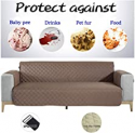 """Deals List: NEKOCAT Sofa Cover,100% Waterproof Nonslip Quilted Furniture Protector Slipcover, Seat Width to 68"""" Furniture Protector with Elastic Strap, Washable Couch Slip Cover(Sofa,Chocolate/Anti-Slip)"""