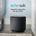 Deals List: Amazon Echo Sub - Powerful Wireless Subwoofer for your Echo - Requires Compatible Echo Device