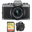 Deals List: FUJIFILM X-T100 Mirrorless Digital Camera with 15-45mm Lens and Accessory Kit
