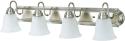 Deals List: Kingbrite 4 Bulb E26 Vanity Light Fixture for Bathroom, Brushed Nickel, Alabaster Glass