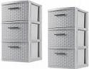 Deals List: Sterilite, 3 Drawer Weave Tower, Cement, Case of 2