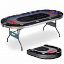 Deals List: ESPN 10 Player Premium Foldable Poker Table with In-Laid LED Lights