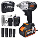 Deals List: Juemel 20V 4Ah 2-Speed 1/2-in 1/4-in Chuck Cordless Impact Wrench
