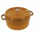 Deals List: Staub Cast Iron 7-qt Round Cocotte - Saffron