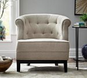 Deals List: Home Decorators Collection Emma Upholstered Arm Chair in Natural