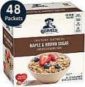 Deals List: Quaker Instant Oatmeal, Maple & Brown Sugar, Individual Packets, 48 Count