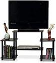 Deals List: Furinno 11257DBR/BK Turn-N-Tube No Tools Entertainment TV Stands, Dark Brown/Black
