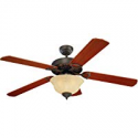 Deals List: Monte Carlo 5OR52RBD-L Flush Mount 5 Dark Blades Ceiling fan