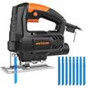 Deals List: Meterk 3000 SPM Jig Saw w/4Ps Wood Saw Blade 4Pc Steel Saw Blade