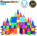 Deals List: PicassoTiles 100 Piece Set 100pcs Magnet Building Tiles Clear Magnetic 3D Building Blocks Construction Playboards