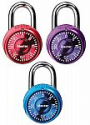 Deals List: Master Lock 1533TRI Locker Lock Mini Combination Padlock, 3 Pack, Assorted Colors