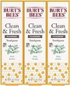 Deals List: Burt's Bees Toothpaste, Natural Flavor With Fluoride Clean & Fresh, Mint Medley, 4.7oz 3 Count