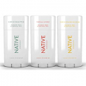 Deals List: Native Deodorant - Natural Deodorant - 3 Pack Seasonal - Vegan & Cruelty Free - Free of Aluminum, Parabens & Sulfates - Aloe & Eucalyptus, Vanilla & Rose, Yuzu & Orange