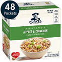 Deals List: Quaker Instant Oatmeal, Apples & Cinnamon, Individual Packets, 48 Count