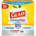 Deals List: Clorox Commercial Solutions Glad ForceFlex Tall Kitchen Drawstring Trash Bags - Unscented - 13 Gallon - 100 Count