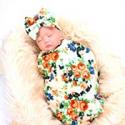 Deals List: Lantusi Newborn Baby Sleep Receiving Blanket & Bow Headband