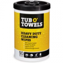 Deals List: 90-Ct Tub O Towels Heavy-Duty 10-in x 12-in Cleaning Wipes