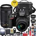 Deals List: Nikon D3500 DSLR Camera w/ AF-P 18-55mm VR and 70-300mm Lenses Bundle