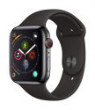Deals List: Apple Watch Series 4 (GPS + Cellular, 44mm) - Stainless Steel Case with White Sport Band