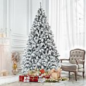 Deals List: Costway 7.5 Ft Snow Flocked Hinged Artificial Christmas Tree