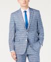 Deals List: Tommy Hilfiger Modern-Fit Light Blue Bold Plaid Men's Suit Jacket