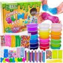 Deals List: DIY Slime Kit for Girls Boys - Ultimate Glow in the Dark Glitter Xmas Slime Making Kit