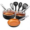 Deals List: Shineuri 9 Pieces Copper Cookware Pans and Pots Set