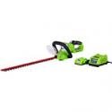 Deals List: Greenworks 22-Inch 24V Cordless Hedge Trimmer, 2.0 AH Battery Included 22232