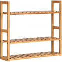 Deals List: SONGMICS 3-Tier Bamboo Shoe Rack Bench, Shoe Organizer, Storage Shelf, Holds Up to 264 Lb, Ideal for Entryway Hallway Bathroom Living Room and Corridor Brown