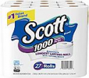 Deals List: 54-Ct Scott 1000 Sheetsper Roll Toilet Paper + 10pk Kleenex Trusted Care Facial Tissues