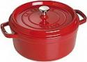 Deals List: Staub Cast Iron Round Cocotte, 4-Quart, Cherry - 40509-835-0