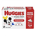 Deals List: HUGGIES Simply Clean Fragrance-free Baby Wipes, Soft Pack (11-Pack, 704 Sheets Total), Alcohol-free, Hypoallergenic