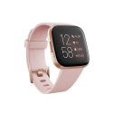 Deals List: Fitbit Versa 2 Health & Fitness Smartwatch with Heart Rate, Music, Alexa Built-in, Sleep & Swim Tracking, Petal/Copper Rose, One Size (S & L Bands Included)