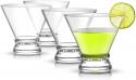 Deals List: JoyJolt 4-Piece Afina Cocktail Glasses Set, Martini Glasses- 8-Ounces