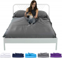 Deals List: Sheets & Giggles Eucalyptus Lyocell Sheet Set. Compared with Cotton, Our Sheets are Softer, More Breathable, More Cooling, and Sustainable Too- No Sheet. Hypoallergenic, Deep Pockets. Queen Grey