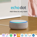 Deals List: Echo Dot (3rd Gen) - Smart speaker with Alexa - Sandstone