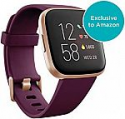 Deals List: Fitbit Versa 2 Health & Fitness Smartwatch with Heart Rate, Music, Alexa Built-in, Sleep & Swim Tracking, Bordeaux/Copper Rose, One Size (S & L Bands Included)
