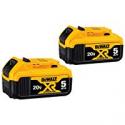 Deals List: 2-Pack DEWALT 20V MAX XR 20V Battery 5.0-Ah DCB205-2