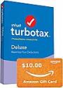 Deals List: Intuit TurboTax Deluxe 2019 Tax Software  [PC/Mac Disc]+ $10 Gift Card