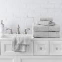 Deals List: Welhome Hudson 100% Pure Organic Cotton Quality 6 Piece Luxury Bath Towel Set - Durable - High Absorbency - Hotel Spa Bathroom Towel - 651 GSM - 2 Bath - 2 Hand - 2 Wash Towels - Glacier Grey