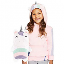 Deals List: Cubcoats Uki The Unicorn - 2-in-1 Transforming Hoodie and Soft Plushie - Pink and White