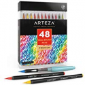Deals List: Arteza Real Brush Pens 48 Colors for Watercolor Painting