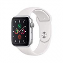 Deals List: Apple Watch Series 5 (GPS, 44mm) - Silver Aluminum Case with White Sport Band