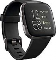 Deals List: Fitbit Versa 2 Health & Fitness Smartwatch with Heart Rate, Music, Alexa Built-in, Sleep & Swim Tracking, Black/Carbon, One Size (S & L Bands Included)